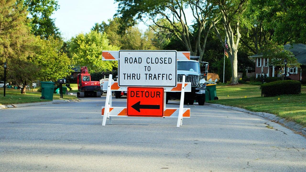 Upcoming Road Closure Banner Image